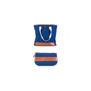 Set kabelka a psaníčko Navy Royal Nacar blue